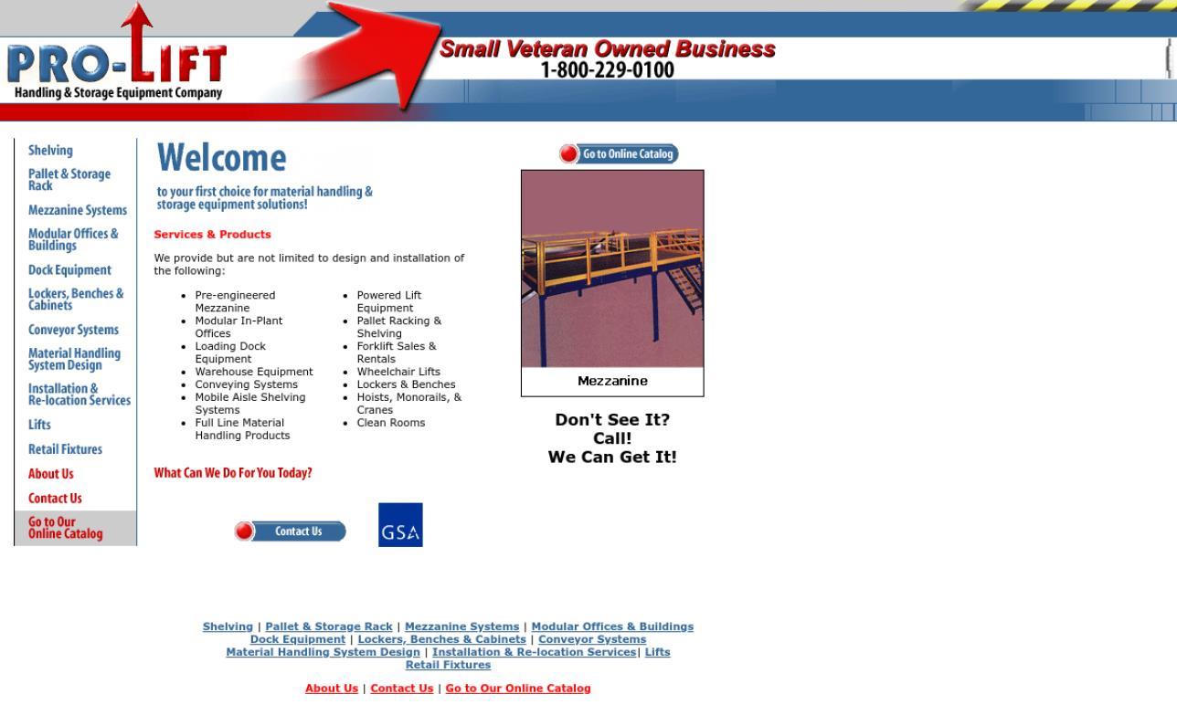 Pro-Lift Handling & Storage Equipment Company